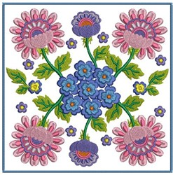 Flower Blocks embroidery design