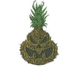 Pineapple Jack-O-Lantern embroidery design