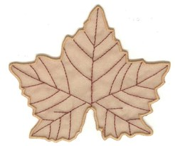 Sycamore Leaf embroidery design