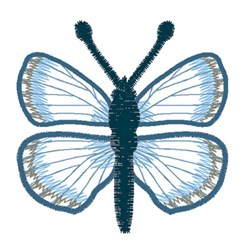 Spring Azure Butterfly embroidery design