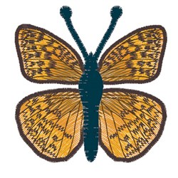 Great Spangled Fritillary Butterfly embroidery design