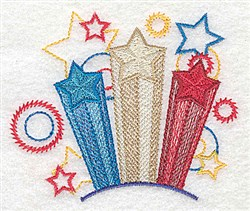Patriotic Stars embroidery design