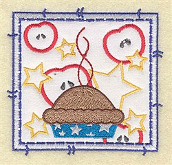 American Pie Applique embroidery design