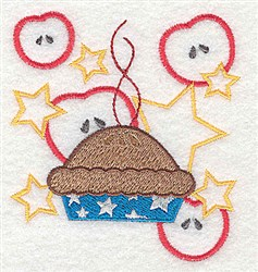 American Applie Pie embroidery design