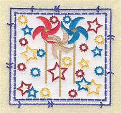 Pinwheel Applique embroidery design