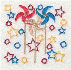Pinwheels embroidery design