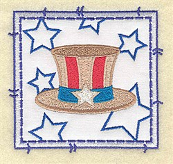 Top Hat Applique embroidery design