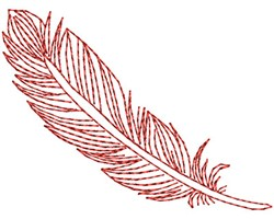 Red Fancy Feather embroidery design