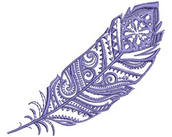 Blue Fancy Feather embroidery design