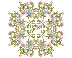 Flower Vine embroidery design