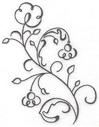 Swirl Blossom embroidery design