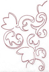 Redwork Blossom embroidery design