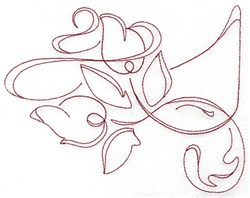 Redwork Swirls embroidery design