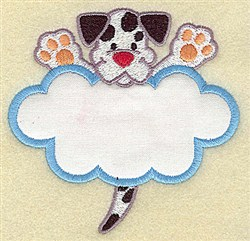 Puppy In Cloud Applique embroidery design