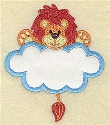 Lion In Cloud Applique embroidery design