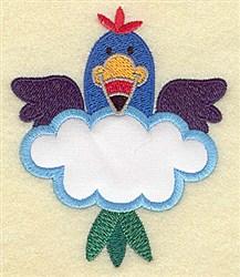 Bird In Cloud Applique embroidery design