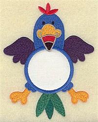Bird In Circle Applique embroidery design