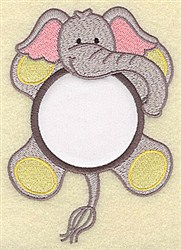 Elephant In Circle Applique embroidery design