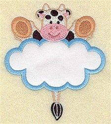 Cow In Cloud Applique embroidery design