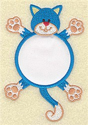 Cat In Circle Applique embroidery design