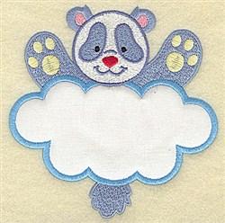 Panda In Cloud Applique embroidery design