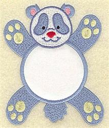 Panda In Circle Applique embroidery design