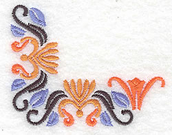 Floral Corner Design embroidery design