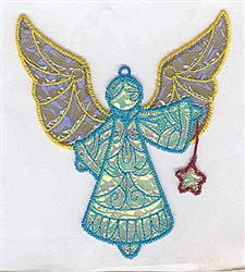 Angel Applique Ornament embroidery design