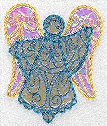 Fancy Angel Applique embroidery design
