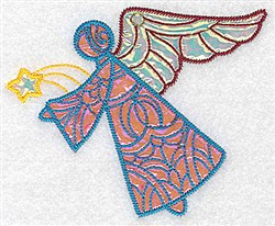 Star Angel Applique embroidery design