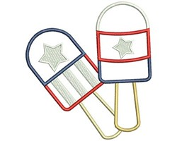 Popsicles embroidery design