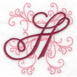 Swirl Monogram H embroidery design