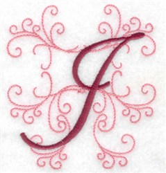 Swirl Monogram I embroidery design