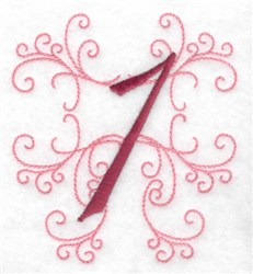Swirl Monogram  1 embroidery design