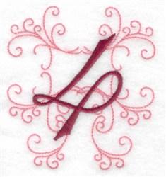 Swirl Monogram 4 embroidery design