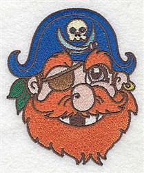 Pirate Head embroidery design