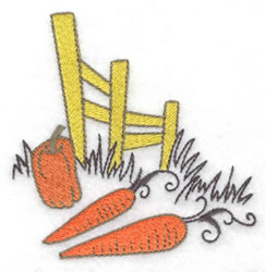 Fence & Vegetables embroidery design