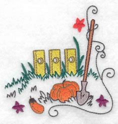 Harvest Scene embroidery design