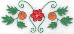 Flower & Fruit Design embroidery design