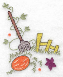 Fence & Pitchfork embroidery design