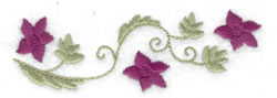 Floral Border embroidery design