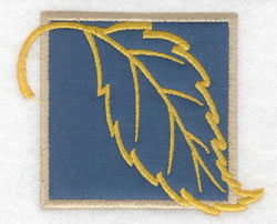 Beech Leaf Applique embroidery design