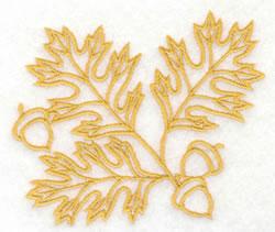 Oak Leaves & Acorns embroidery design