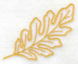 Oak Leaf Outline embroidery design