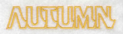 Autumn Text Outline embroidery design
