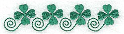 Four Shamrocks embroidery design