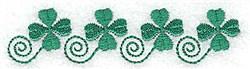 Four Shamrocks embroidery design