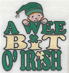 A Wee Leprechaun embroidery design