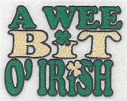 We Bit Irish embroidery design