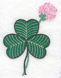 Blooming Clover embroidery design